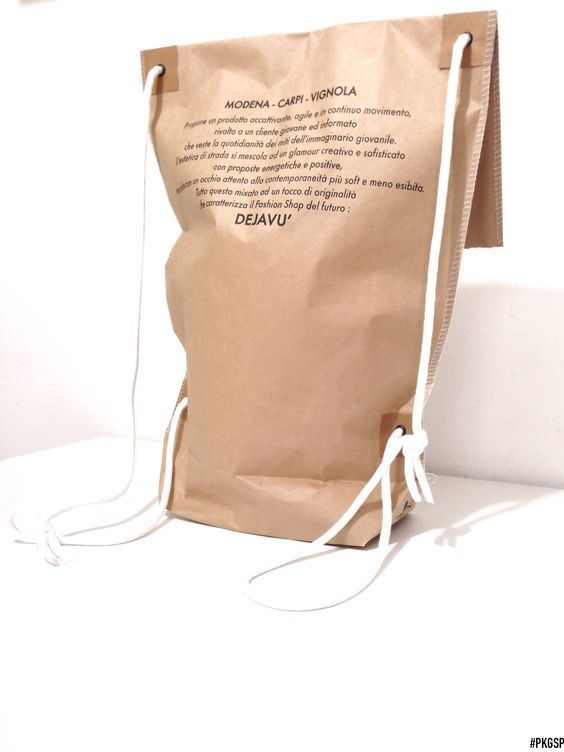 Super cool shopping bag / paper backpack....We <3 it!  http://www.packagingspecialist.eu/