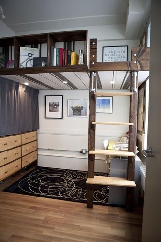 17 best images about loft beds for adults on pinterest - Cool loft bed designs ...