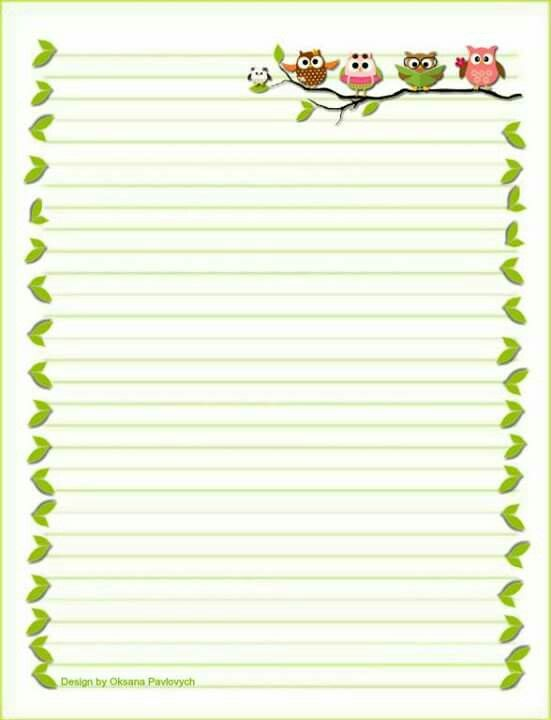 759 best Lined writing papers! images on Pinterest Writing - lined writing paper