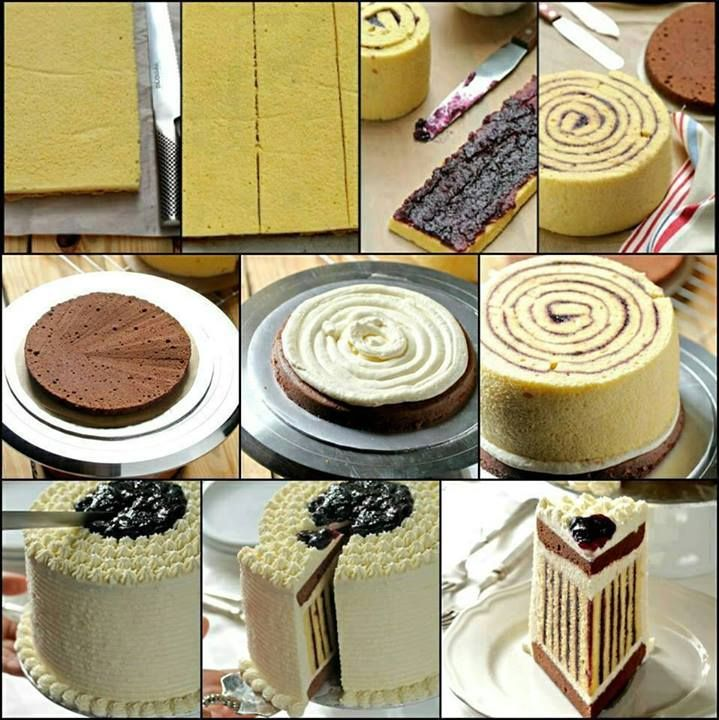 How To Make A Striped Cake | DIY Cozy Home