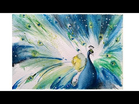 How To Paint A Peacock In Watercolors Abstract Art Video Art