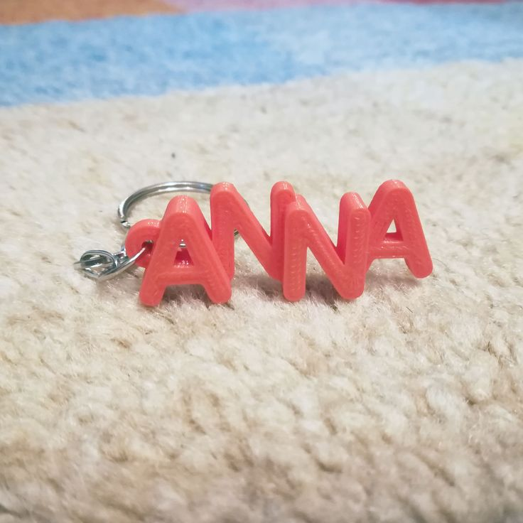 Personalised 3D Printed gift. Letters keychain for Anna.  #3dprints #3dprinted #keychain #keyring #kulcstartó #anna