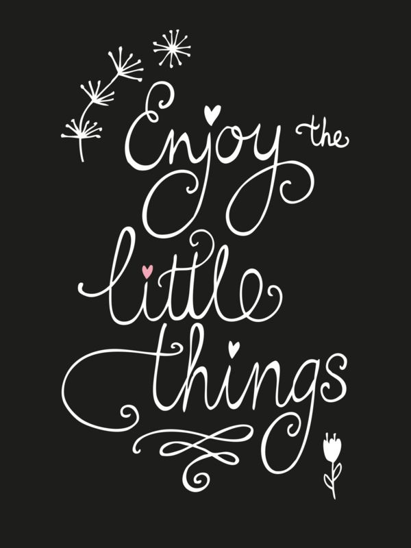 Kaart Enjoy the little things Ansichtkaart met quote Enjoy the little things.
