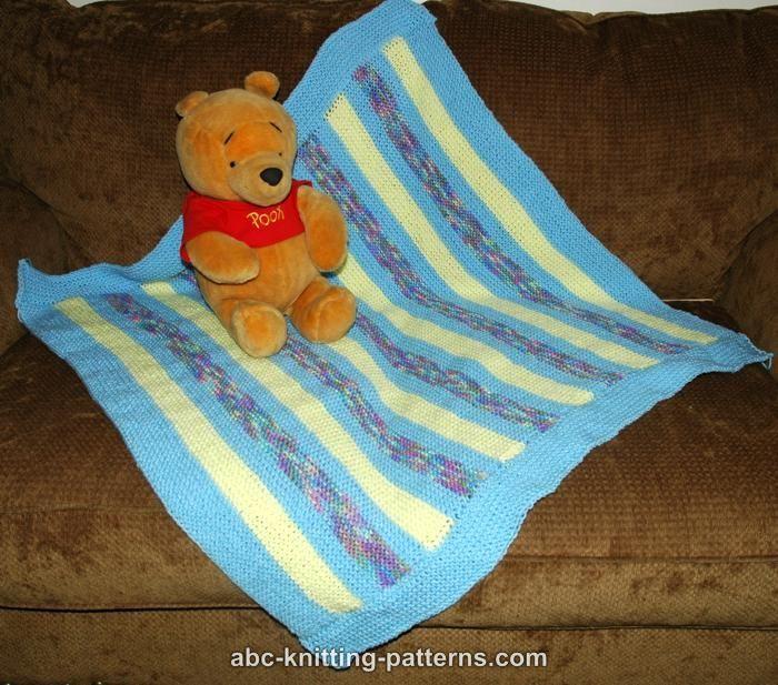 ABC Knitting Patterns - Easy Garter Stitch Baby Blanket