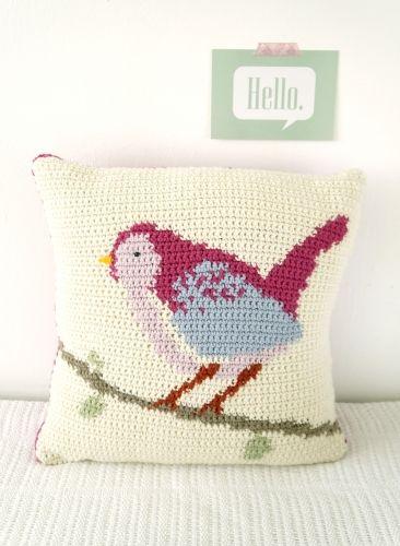 Bird Cushion amigurumi crochet pattern by Little Doolally