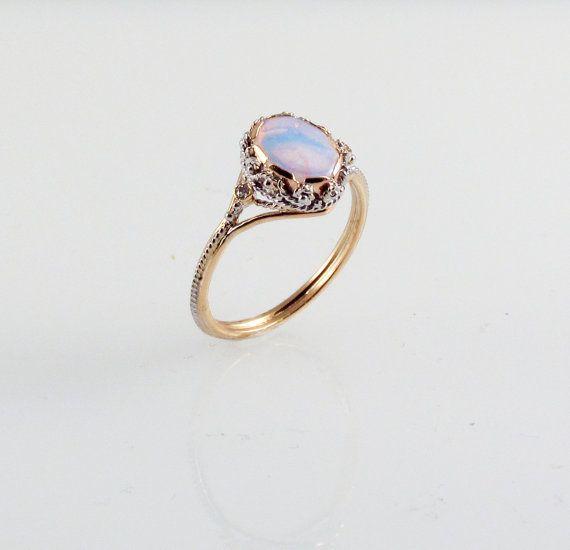 Opal Dream Ring in 14K Gold by FernandoJewelry on Etsy