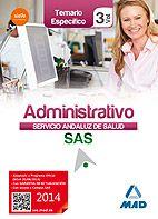 Este manual está concebido para la adecuada preparación de las pruebas de acceso a la categoría de Administrativo del Servicio Andaluz de Salud, conforme al Nuevo Temario aprobado para las OPE 2013 y 2014.