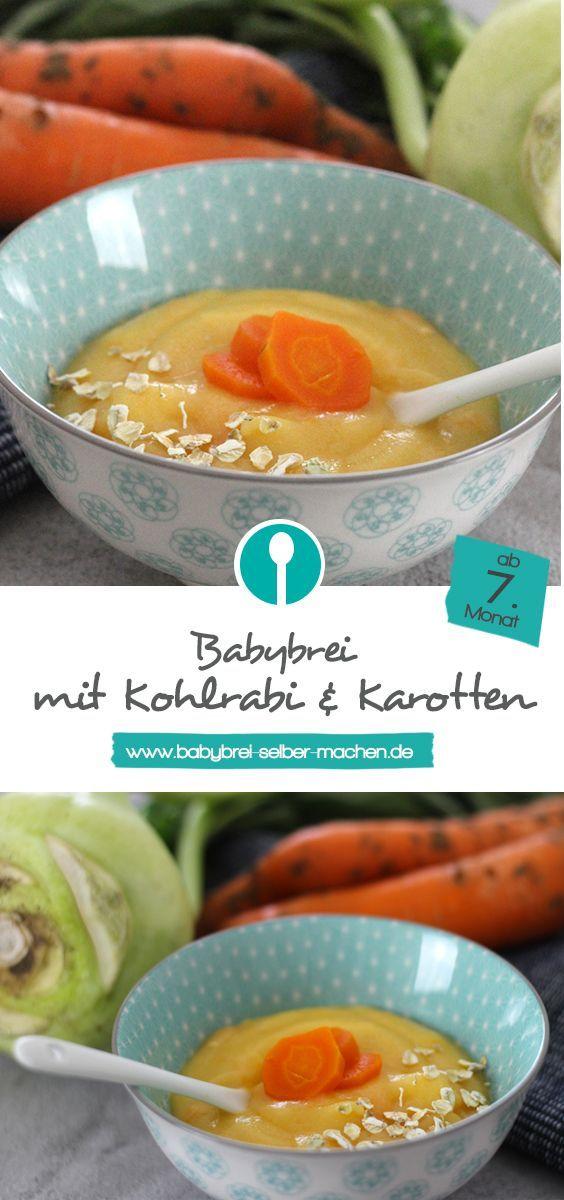Babybrei mit Kohlrabi und Karotten – Rezept für vegetarischen Mittagsbrei – Jasmin K.