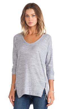 Shop for Splendid Space Dyed Jersey V-neck Top in Light Grey at REVOLVE. Free 2-3 day shipping and returns, 30 day price match guarantee.