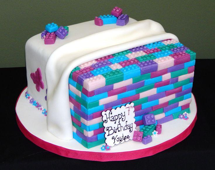 Girl Lego Themed Cake