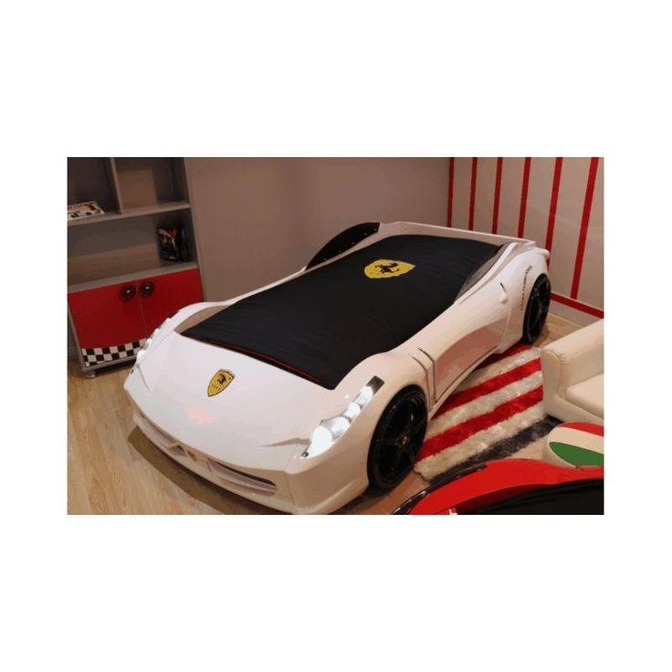 WHITE FERRARI RACECAR BED FOR KIDS 77