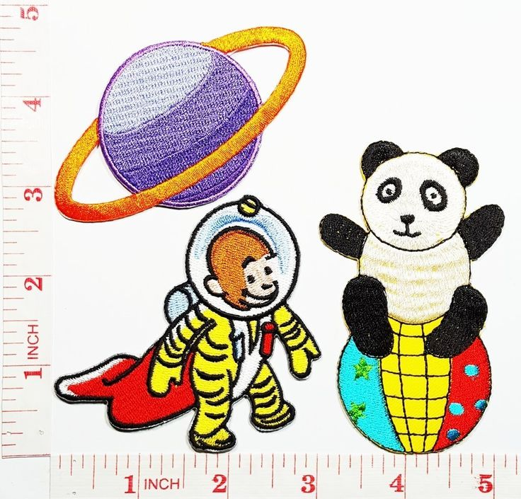 Curious George Space Suit TV Show Cartoon Kid patch Jacket Polo T- shirt DIY Applique Embroidered Sew Iron on patch * Visit the image link more details.