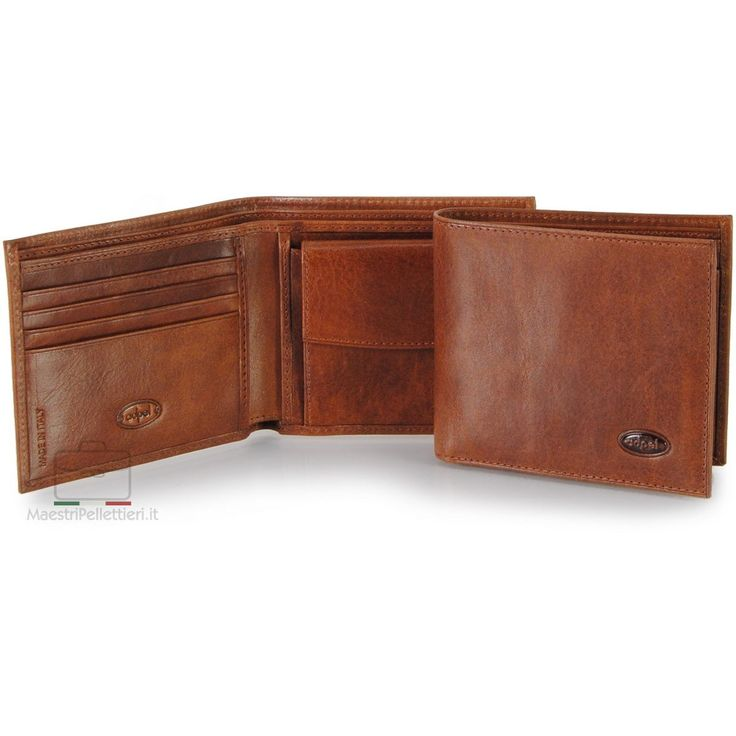 Men's pocket wallet coinholder, vegetable leather | Adpel | Made in Italy