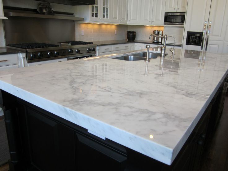 river white granite worktops on grey island - Google Search