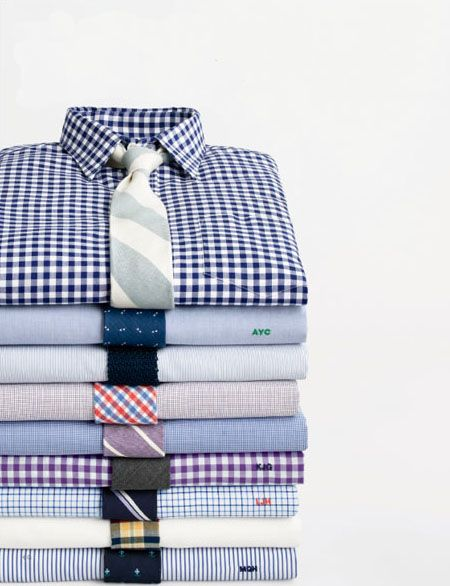 Great combination of shirts and ties... Looking for that awesome Black Gingham Shirt on the top of the pile? Head over to http://hucklebury.com/products/the-black-orchard-gingham