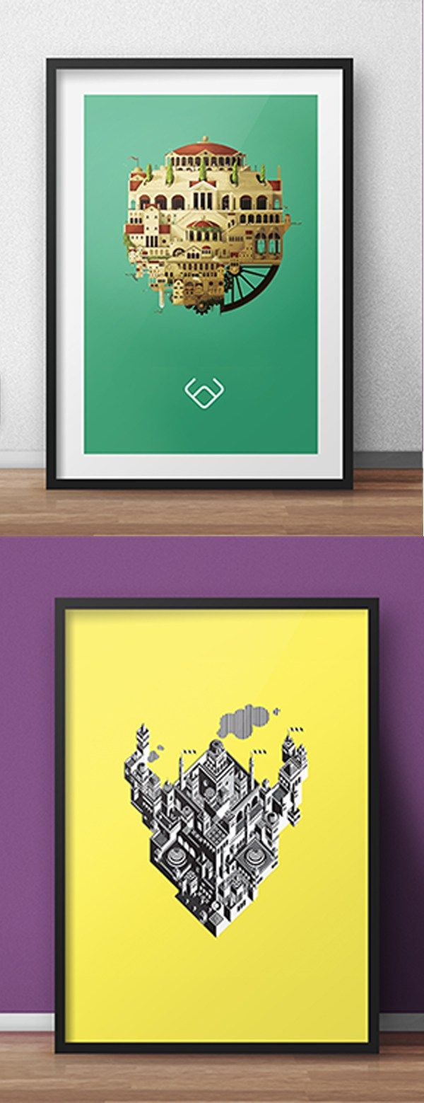 Poster design mockup - Free Psd Poster Mockups