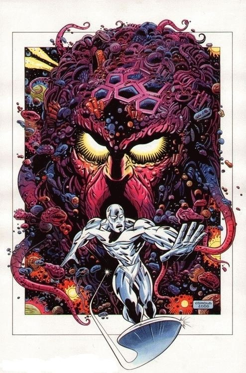 Giorgio Comolo - Silver Surfer, in the February 2013: They Came From Outer Space Comic Art Sketchbook