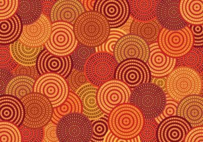 Abstract vector graphics background designed by using a large number of circles. Each of these circles have spiral shape inside of them which is decorated by many small dots. Such combination creates an amazing effect.