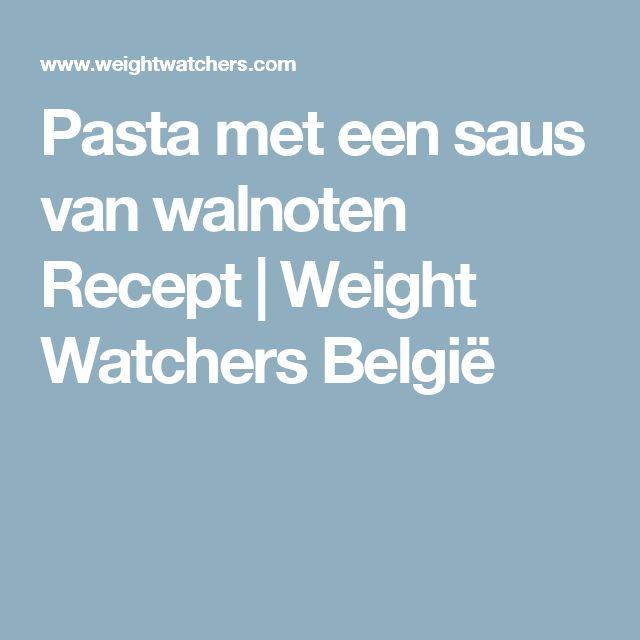 Pasta met een saus van walnoten Recept | Weight Watchers België