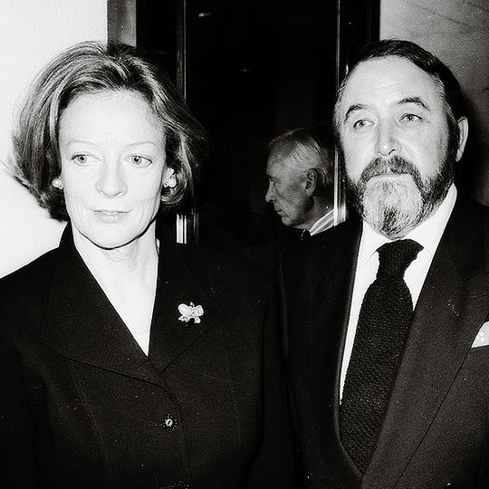 Maggie Smith, pictured with her husband, Beverley Cross.