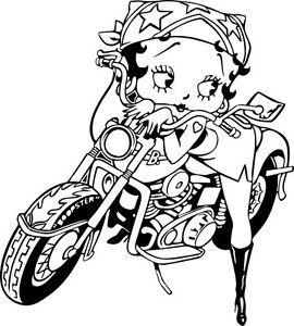 Betty Boop Sexy Biker 7 Vinyl Decal Sticker Wall Art Laptop Car Van Boat Glass