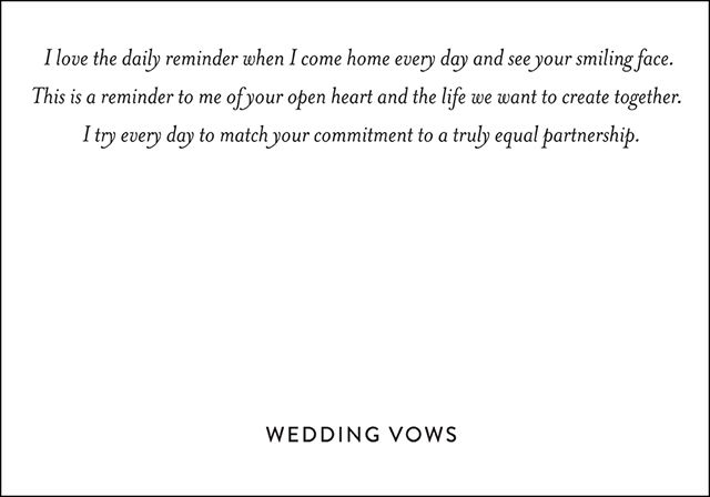 Wedding Vows :: Ashley & Michael's Personal Wedding Vows Snippet & Ink