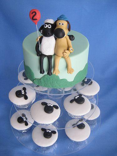 Bolos decorados da Ovelha Choné - http://www.boloaniversario.com/bolos-decorados-da-ovelha-chone/