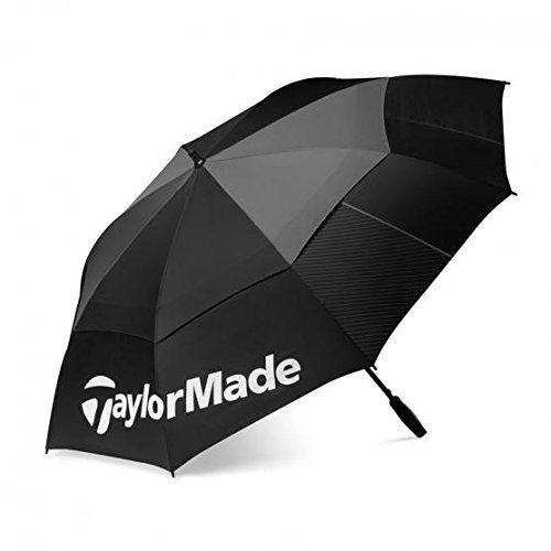 Taylormade Tour Double Canopy - Paraguas para hombre, color negro / gris, talla única - http://comprarparaguas.com/baratos/golf/taylormade-tour-double-canopy-paraguas-para-hombre-color-negro-gris-talla-unica/