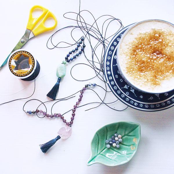 Yogi Dietitian: Mala Making #mala #diy #homemade #gemstones #gemstonejewelry