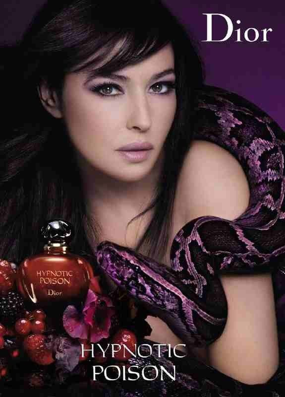 Dior- Hypnotic Poison (purple reflects luxury, snake used to create exotic and seductive atmosphere, a extension from Poison)