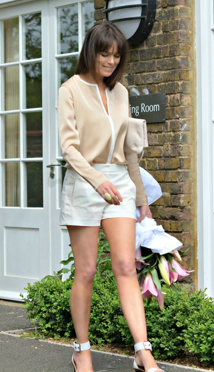 Styling Winser London | Dressing up shorts with silk shirt & high heel sandals | Fashion over 40 on RCM