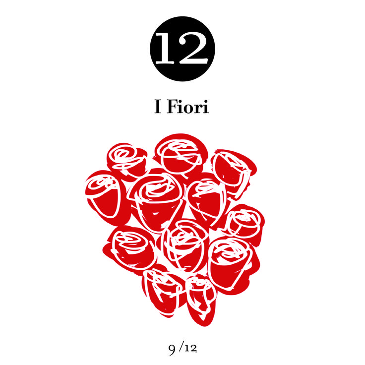 12 donated red roses symbolize total love. The tradition of significant silent gestures is full of poetry and sensitivity.