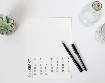 """2017 instant digitale Download afdrukbare DIY agenda, 8 """"x 10"""", persoonlijk gebruik, minimale moderne lettertype, PDF en Photoshop, uw eigen inhoud toevoegen"""