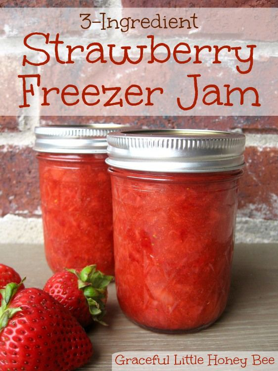 Make jam with only 3 ingredients and no cooking!!