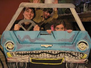Harry Potter party :)  The flying car photo prop!
