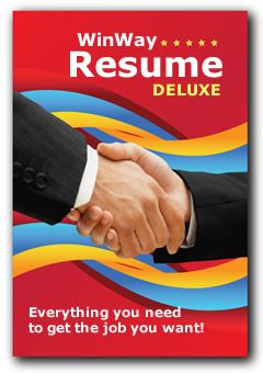 WinWay Resume Deluxe - the Leader in Resume Software. Download or CD. Resume Examples, Letters, Interview Simulation, Salary Negotiation and much more!