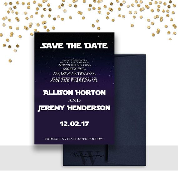 Star Wars Save the Dates Star Wars Theme Weddings Disney
