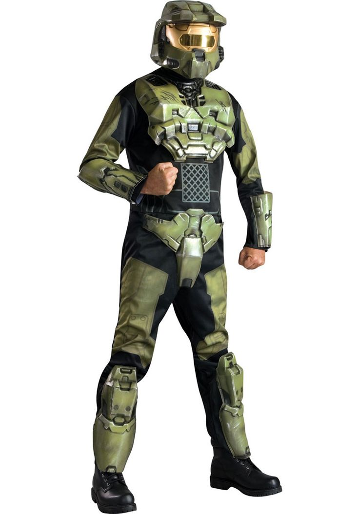 Master Chief Deluxe Costume, Halo 3 Computer Game Fancy Dress - Superhero Costumes at Escapade