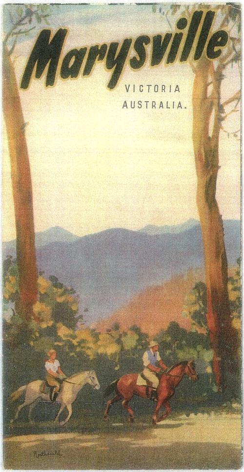 vintage travel poster, Marysville, Victoria  #marysville #kerryannprayrealtor www.HomematchNW.com