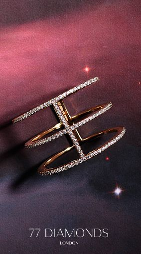 Our #Crux #cocktail #ring is #dusted in small #diamonds around all outer edges. #Galaxy #Collection #Jewelry #Jewellery