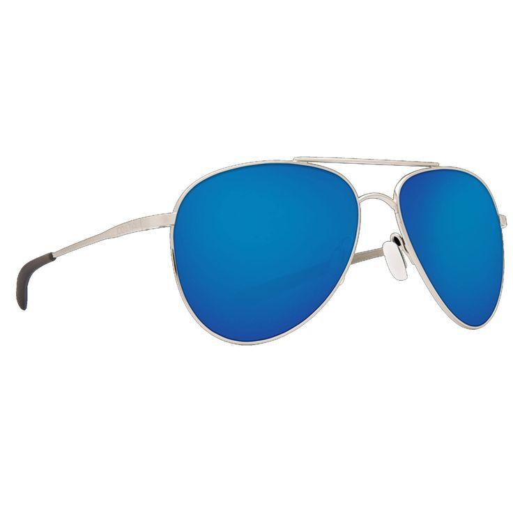 Costa Brushed Palladium/Blue Mirror Cook 580P Sunglasses