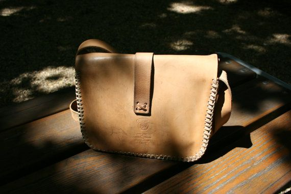 Light brown leather bag Handmade leather by TaylorGirlsShop