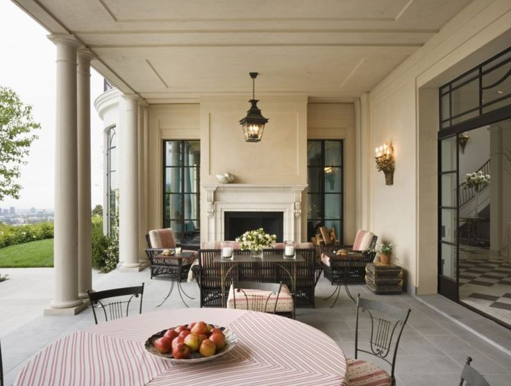 Amazing back porch for French doors back porch