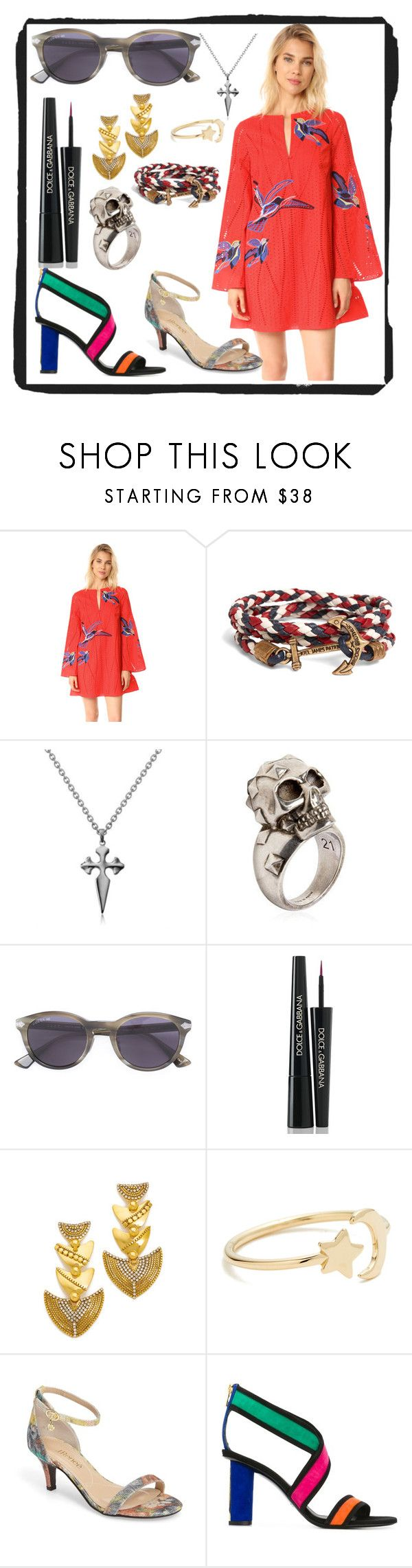 """Think fashion"" by denisee-denisee ❤ liked on Polyvore featuring Tanya Taylor, Brooks Brothers, Stone Paris, Alexander McQueen, Gucci, Dolce&Gabbana, Erickson Beamon, Ariel Gordon and Balmain"