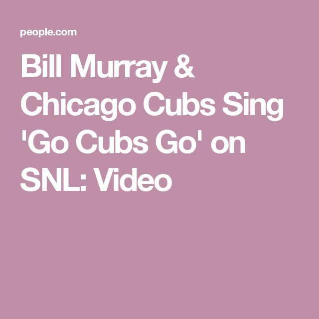 Bill Murray & Chicago Cubs Sing 'Go Cubs Go' on SNL: Video