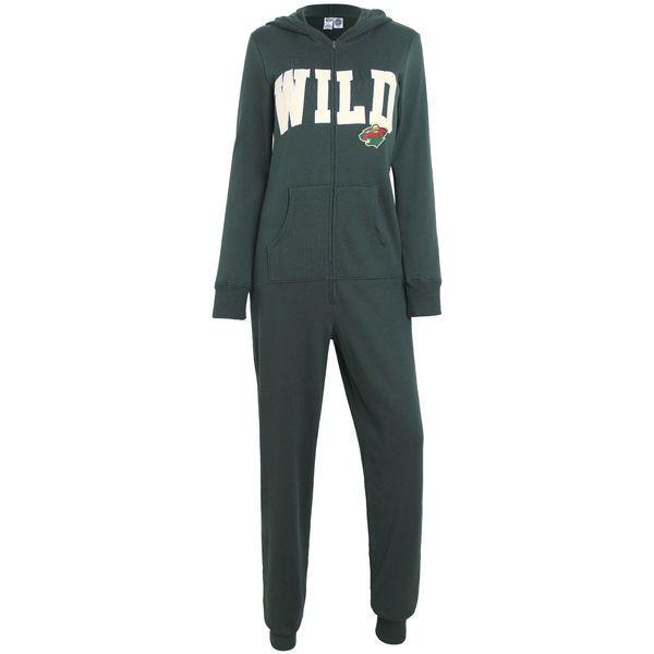 Minnesota Wild Concepts Sport Women's Forefront Union Suit Pajamas - Green - $44.99