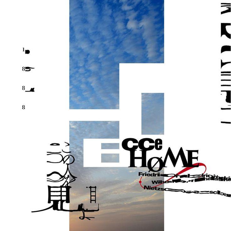 Noriaki. Miyazatoさん(@eyemagi)のInstagramアカウント: 「試作36 Friedrich Nietzsche Ecce homo フリードリヒ・ニーチェ #この人を見よ #poster #postereveryday #designeveryday…」