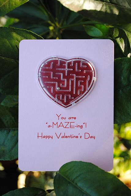 Valentine.  Class hand out idea. These are sold at oriental trading for $7 for 72 pieces. http://www.orientaltrading.com/valentine-maze-puzzles-a2-12_1817.fltr?prodCatId=388762&tabId=5