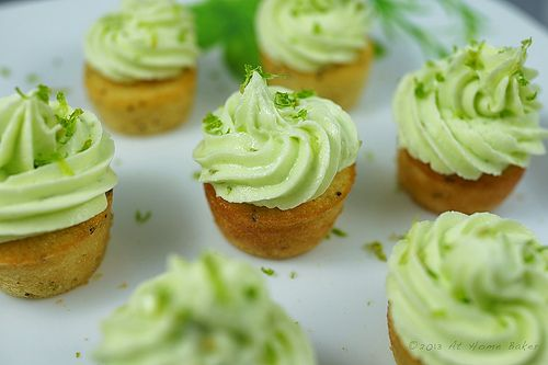 Mini Lime Cupcakes with poppyseeds
