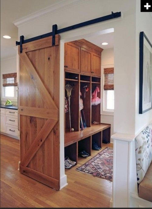 mudroom and barn door combo inspiration!